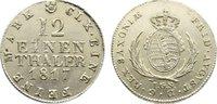 1/12 Taler 1817 Sachsen-Albertinische Linie Friedrich August I. 1806-18... 55,00 EUR  zzgl. 3,50 EUR Versand