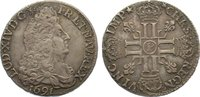 1/2 Écu aux 8L 1 1691  P Frankreich Ludwig XIV. 1643-1715. sehr schön  235,00 EUR  zzgl. 3,50 EUR Versand