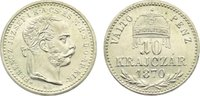 10 Kreuzer 1870  KB Haus Habsburg Franz Joseph I. 1848-1916. Nachprägun... 65,00 EUR  zzgl. 3,50 EUR Versand