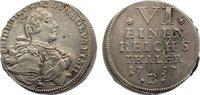 1/6 Taler 1757  B Brandenburg-Bayreuth Friedrich 1735-1763. l. dezentri... 40,00 EUR  zzgl. 3,50 EUR Versand