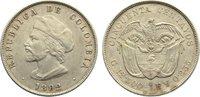 50 Centavos 1892 Kolumbien Republik seit 1819. sehr schön - vorzüglich  45,00 EUR  zzgl. 3,50 EUR Versand