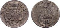 6 Pfennig 1786 Schwarzburg-Rudolstadt Ludwig Günther II. 1767-1790. kl.... 35,00 EUR  zzgl. 3,50 EUR Versand