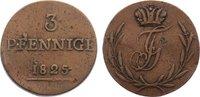 Cu 3 Pfennig 1825 Schwarzburg-Rudolstadt Friedrich Günther 1807-1867. s... 25,00 EUR  zzgl. 3,50 EUR Versand