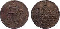 Cu Pfennig 1792 Schwarzburg-Rudolstadt Friedrich Karl 1790-1793. kl. Ra... 35,00 EUR  zzgl. 3,50 EUR Versand
