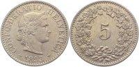 5 Rappen 1893  B Schweiz-Eidgenossenschaft  vorzüglich  10,00 EUR  zzgl. 1,00 EUR Versand