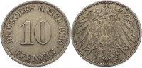 10 Pfennig 1909  J Kleinmünzen  sehr schön  8,00 EUR  zzgl. 1,00 EUR Versand