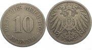 10 Pfennig 1901  J Kleinmünzen  fast sehr schön  7,00 EUR