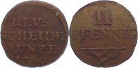 Cu 2 Pfennig 1760 Reuss, jüngere Linie zu Lobenstein Heinrich II. 1739-... 75,00 EUR  +  4,50 EUR shipping