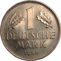 1 DM 1958 Deutschland 1 DM Kursmünze 1958 ...