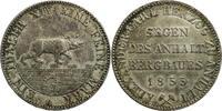 Ausbeutetaler 1855 A Anhalt-Bernburg  prägefrisch / schöne Patina  200,00 EUR kostenloser Versand