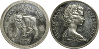25 Pence 1975 Isle of Man Tiere aus aller Welt - Manx Katze vz (brührt)  35,00 EUR  zzgl. 5,00 EUR Versand