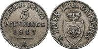 3 Pfennige 1847 A Lippe-Detmold Paul Alexander Leopold 1802-1851 fast vz  15,00 EUR  zzgl. 5,00 EUR Versand