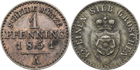 1 Pfennig 1847 A Lippe-Detmold Paul Alexander Leopold 1802-1851 vz fast... 25,00 EUR  zzgl. 5,00 EUR Versand