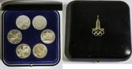6 x 1 Rubel 1980 Russland / UdSSR 6 x 1 Rubel olympische Spiele in Mosk... 20,00 EUR  plus 7,00 EUR verzending
