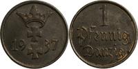 1 Pfennig 1937 Deutschland - Danzig  ss  4,00 EUR  plus 7,00 EUR verzending