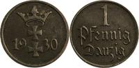 1 Pfennig 1930 Deutschland - Danzig  ss  6,00 EUR  plus 7,00 EUR verzending