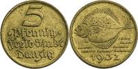 5 Pfennige 1932 Deutschland - Danzig (A) (Berlin) ss  5,00 EUR  plus 7,00 EUR verzending