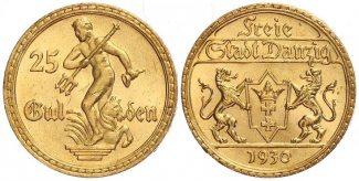 Danzig 25 Gulden 1930 f.st Neptunbrunnen D...