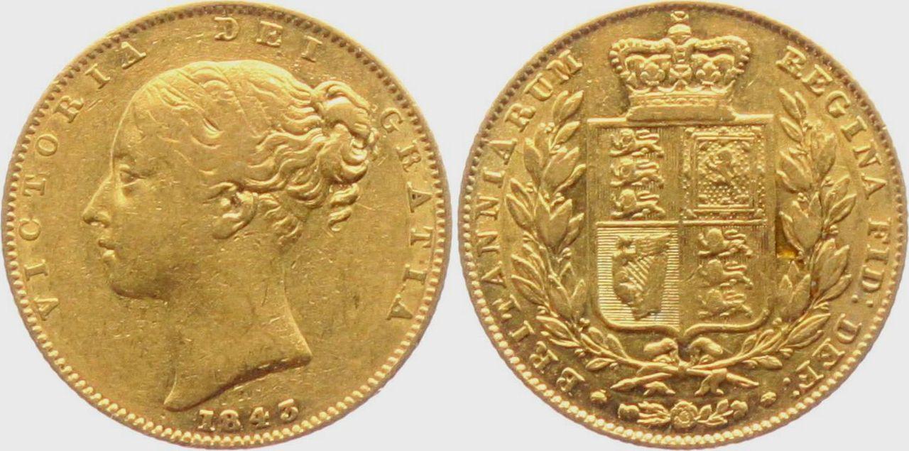 Briefe Queen Victoria : Sovereign grossbritannien queen victoria