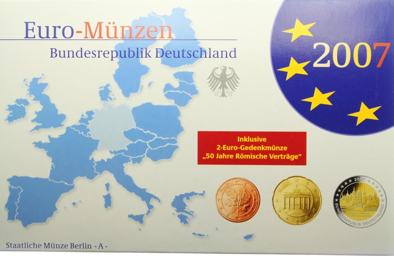 5 88 euro kms in plastikbox 2007 a deutschland euro kursm nzensatz berlin pr gebuchstabe a. Black Bedroom Furniture Sets. Home Design Ideas