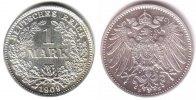 1 Mark 1909 E Kaiserreich 1 Mark großer Adler vz/st  198,00 EUR