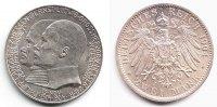 2 Mark 1904 Hessen Silbermünze - Philipp und Erst Ludwig vz/st  79,90 EUR