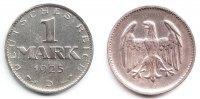 Weimarer Republik 1 Mark Silbermark mit Reichsadler
