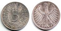 5 Mark 1960 F Deutschland Silberadler prägefrisch  59,00 EUR  zzgl. 6,95 EUR Versand