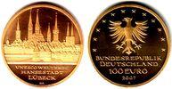 100 Euro 2007 D Deutschland 1/2 Unze Goldmünze - Hansestadt Lübeck st m... 598,00 EUR