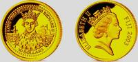 10 Dollar 2003 Fiji Inseln 1/25 Unze Goldmünze -  König Richard II. PP  59,00 EUR  zzgl. 6,95 EUR Versand