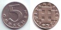 5 Groschen 1937 Österreich 5 Groschen - 1. Republik  f.st  149,90 EUR  zzgl. 6,95 EUR Versand