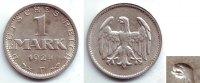 1 Mark 1924 F Weimarer Republik 1 Mark - Fehlprägung: doppelte Zunge vz... 59,90 EUR