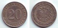 20 Pfennig 1890 G Kaiserreich 20 Pfennig großer Adler vz  69,90 EUR
