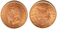 20 Lire 1873 Italien König Vittorio Emanuele II. gutes vz  319,90 EUR