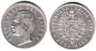 5 Mark 1888 D Lübeck Silbermünze - König Otto von Bayern ss+  398,90 EUR