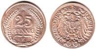 25 Pfennig 1911 E Kaiserreich Kursmünze f.st  59,90 EUR  zzgl. 6,95 EUR Versand