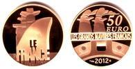 50 Euro 2012 Frankreich Passagierschiff Le France PP mit Box + Echtheit... 464,90 EUR