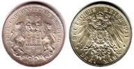 3 Mark 1911 J Hamburg Stadtwappen f.st  59,90 EUR  zzgl. 6,95 EUR Versand
