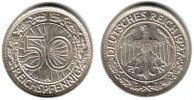 Weimar 50 Pfennig 50 Reichspfennig