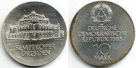 DDR 10 Mark Silber-Gedenkmünze - Semperoper