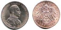 5 Mark 1913 A Preussen Wilhelm II. (1888 - 1918) in Uniform f.st  59,00 EUR