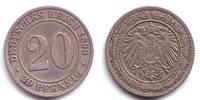 20 Pfennig 1890 G Kaiserreich 20 Pfennig  - großer Adler ss-vz  59,90 EUR  zzgl. 6,95 EUR Versand