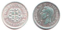 Grobritannien 3 Pence George VI. (1936 - 1952)