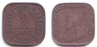 Straits Settlements 1 Cent George V. (1910 - 1936)