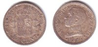 Spanien 50 Cents Alfonso XIII. (1886 - 1913)