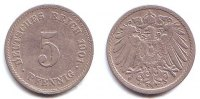 Kaiserreich 5 Pfennig 5 Pfennig  - groer Adler