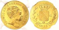 5 Gulden 1825 Baden-Durlach Grosherzog Ludwig (1818-1830) vz/st  4998,00 EUR kostenloser Versand