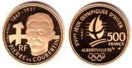 500 Francs 1991 Frankreich 1/2 Unze Goldmünze - Olympiade Albertville 1... 619,00 EUR