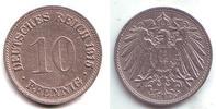 10 Pfennig 1915 G Kaiserreich Kursmünze großer Adler f.vz  129,90 EUR  zzgl. 6,95 EUR Versand