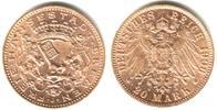 20 Mark 1906 J Bremen Wappen der Satdt Bremen vz/st  3495,00 EUR kostenloser Versand